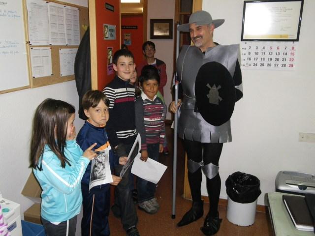 don quijote y los niños